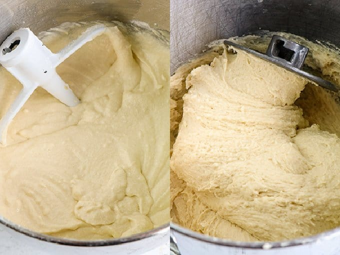 collage showing the process of the dough